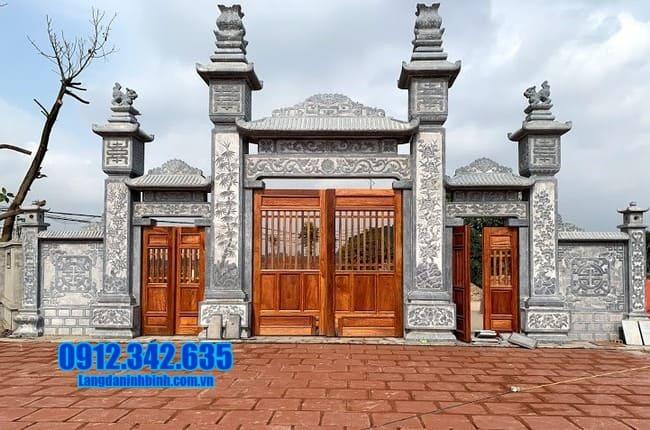 mẫu cổng tam quan bằng đá đẹp tại Bắc Giang
