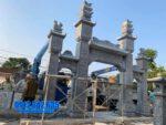 mẫu cổng tam quan bằng đá tại Bắc Giang