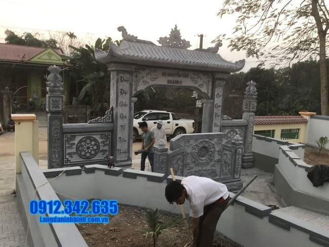 mẫu cổng tam quan đá đẹp nhất tại Bắc Giang