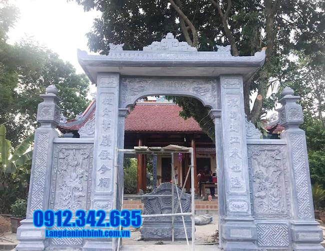 mẫu cổng tam quan đá đẹp tại Lạng Sơn