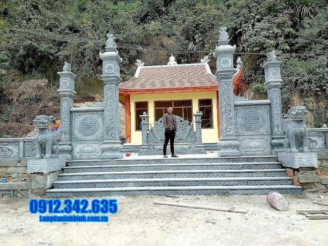 mẫu cổng tam quan đá đẹp tại Phú Thọ