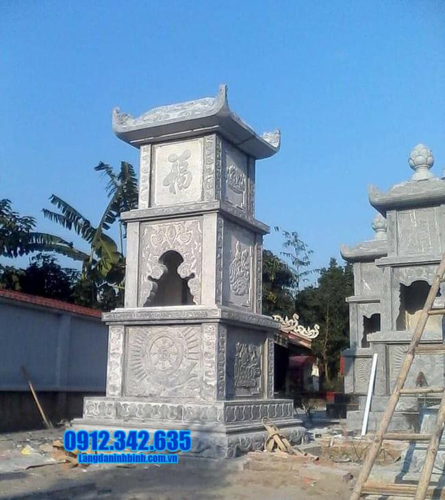 mẫu mộ đá hình tháp đẹp tại An Giang