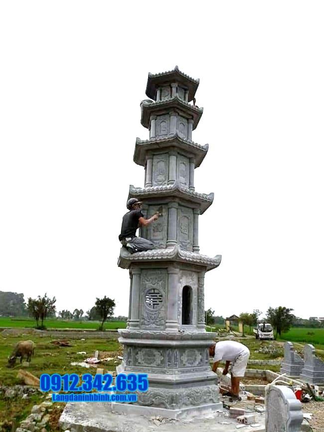mẫu mộ tháp đá đẹp để thờ hũ tro cốt tại An Giang