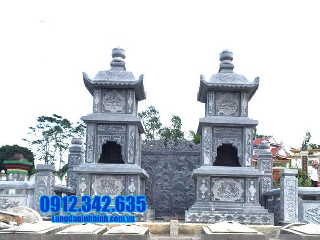 mẫu mộ tháp đá đẹp nhất để thờ hũ tro cốt tại An Giang