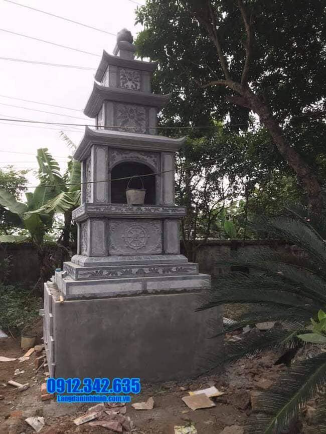 mẫu tháp mộ đá đẹp để thờ hũ tro cốt tại An Giang