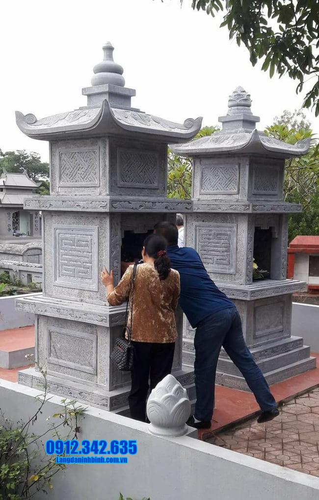 mẫu tháp mộ đá đẹp nhất để thờ hũ tro cốt tại An Giang