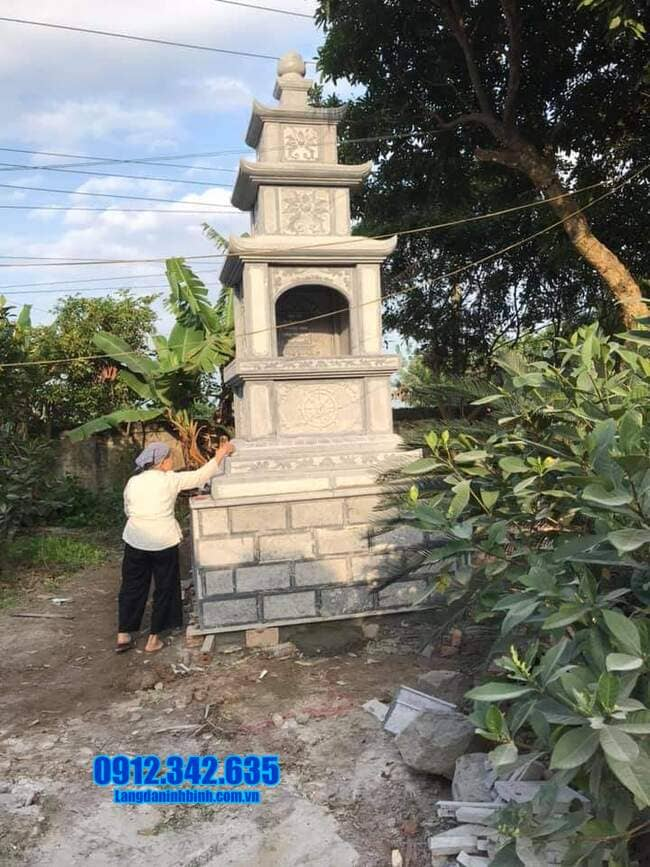 mộ tháp đá tại An Giang đẹp