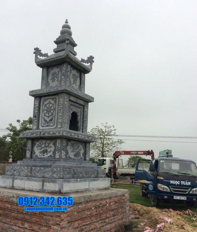 tháp mộ đá đẹp để hũ tro cốt tại Bến Tre - Cơ sở xây tháp mộ đá