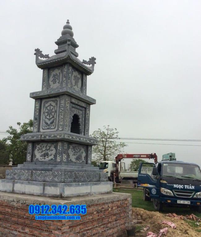 tháp mộ đá đẹp để thờ hũ tro cốt tại An Giang