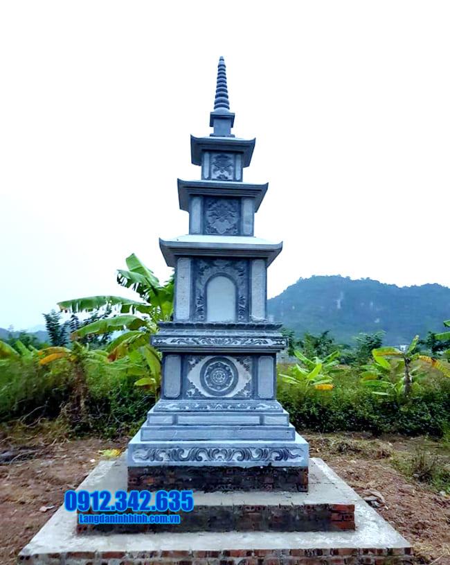 tháp mộ đẹp bằng đá để thờ hũ tro cốt tại An Giang