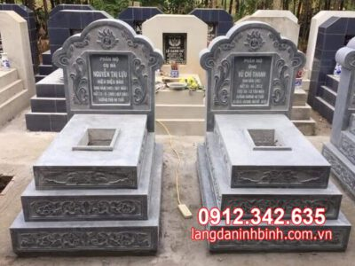 Chế tác lắp đặt mộ đôi bằng đá đẹp nhất tại Quy Nhơn