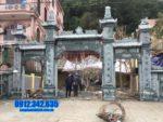 Mẫu cổng chùa đá đẹp tại Bình Định - Địa chỉ làm cổng tam quan đá