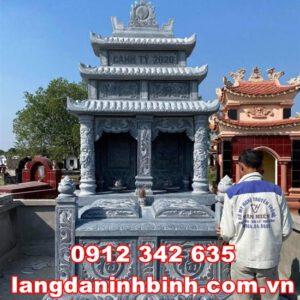 Mẫu mộ đôi đẹp tại Vĩnh Long Mộ đôi bằng đá tại Vĩnh Long