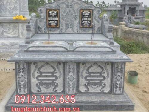 Mộ đôi bằng đá tại Khánh Hòa - 15 mẫu mộ đôi bằng đá đẹp nhất
