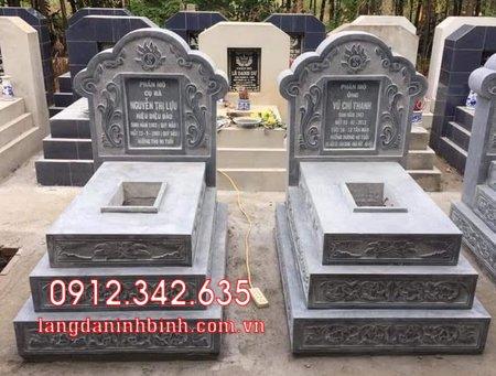 Mộ đôi bằng đá tại Khánh Hòa - mộ đôi bằng đá đẹp nhất tại Khánh Hoà 1