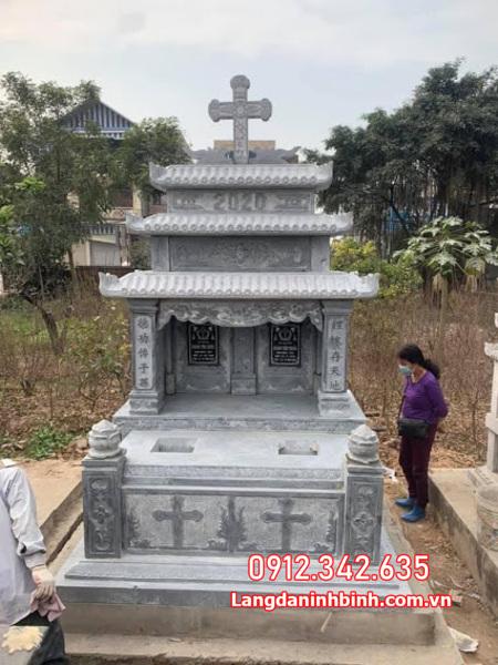 Mộ đôi đẹp - Mẫu mộ đôi đá đẹp nhất tại Ninh Thuận