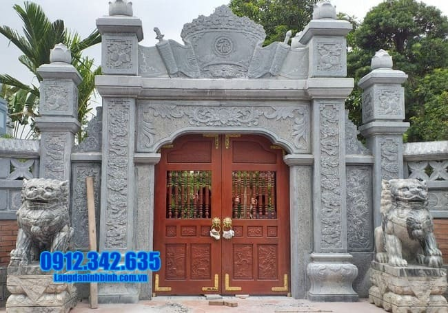 cổng tam quan bằng đá đẹp tại Bình Thuận