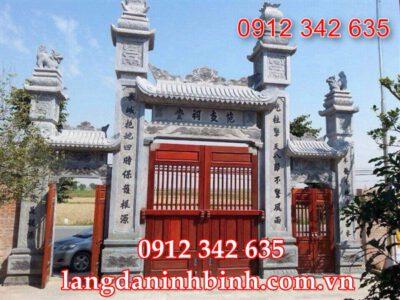 mẫu cổng chùa bằng đá lắp đặt tại Khánh Hòa