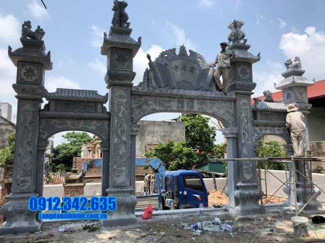 mẫu cổng chùa đá tại Bình Thuận