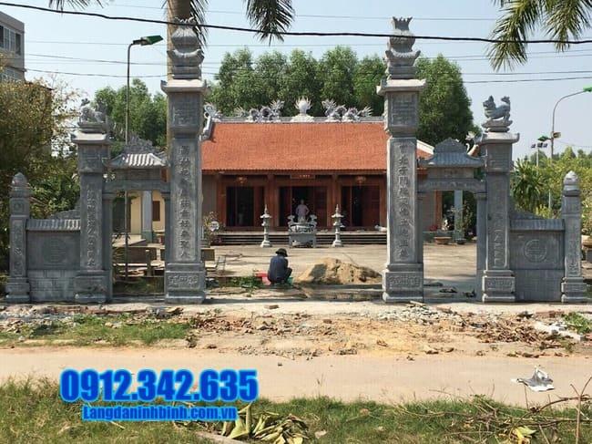 mẫu cổng tam quan bằng đá đẹp nhất tại Bình Định