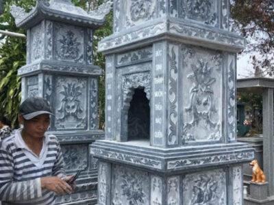 mẫu mộ tháp xây bằng đá đẹp nhất tại Quy Nhơn