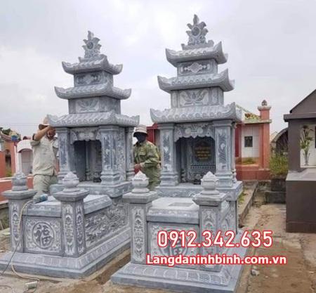 mộ đá đôi tại Ninh Thuận đẹp