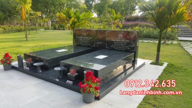mộ đôi bằng đá đẹp nhất tại Đồng Tháp
