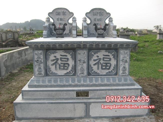 mộ đôi bằng đá đẹp tại Đồng Tháp