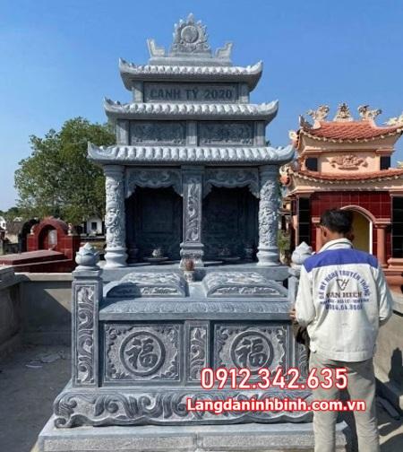 mộ đôi bằng đá đẹp tại Ninh Thuận