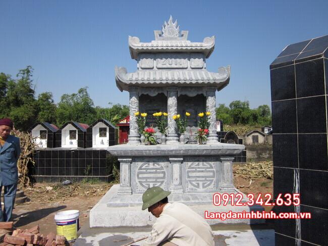 mộ đôi làm bằng đá tại Đồng Tháp đẹp