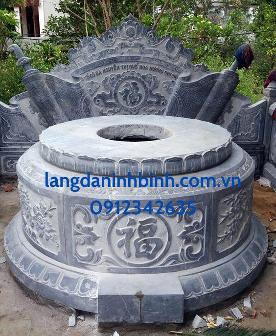 Mẫu mộ tròn bằng đá hợp phong thủy