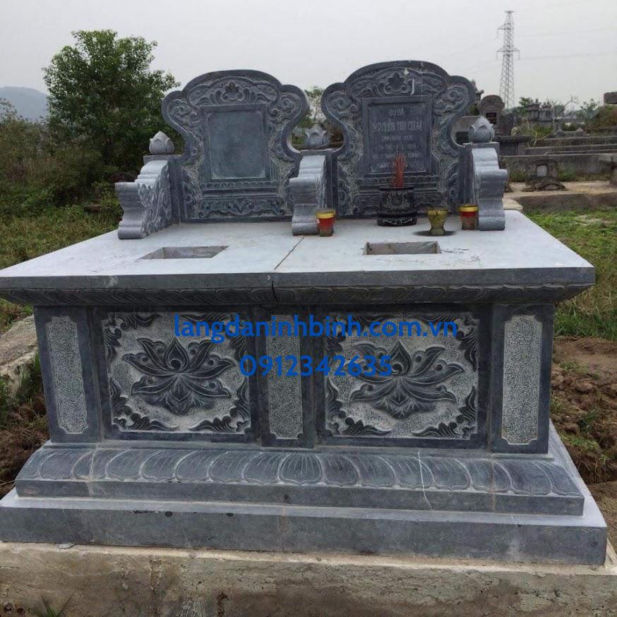 Mẫu mộ đôi bằng đá tự nhiên hợp phong thủy