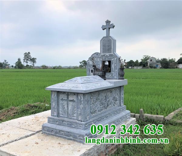 Mẫu mộ đạo Thiên Chúa bằng đá đẹp