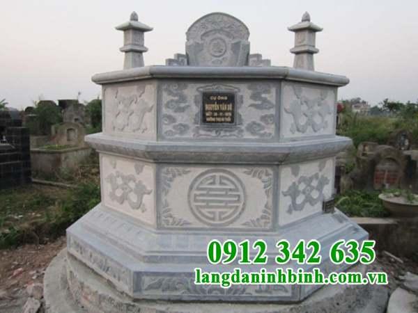 Mẫu mộ lục giác bằng đá nguyên khối đẹp