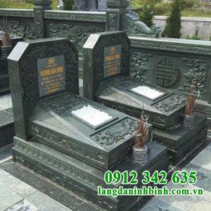 Mẫu mộ đá xanh rêu Thanh Hóa đơn giản
