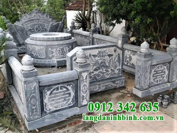 Mẫu lăng mộ tròn bằng đá đẹp