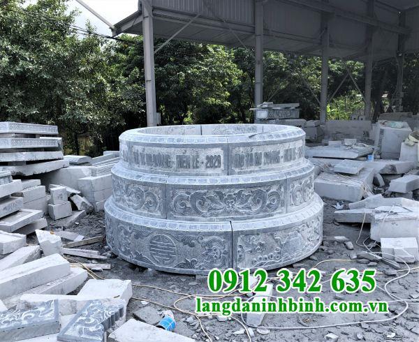 Địa chỉ thiết kế mộ tròn bằng đá đẹp