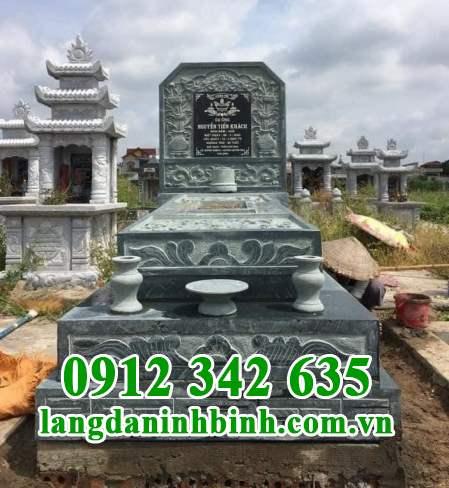 Mẫu mộ đá xanh rêu Thanh Hóa đẹp