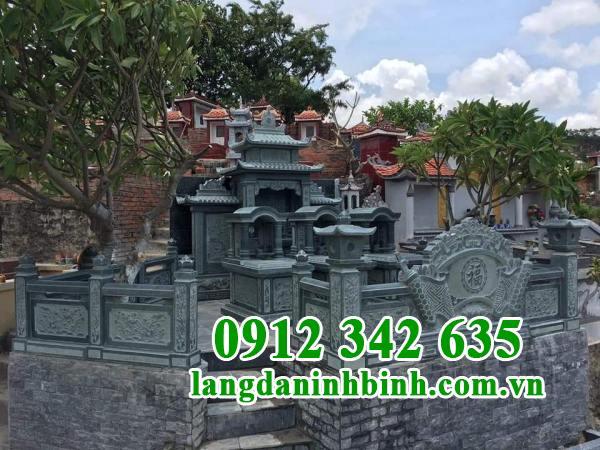 Mẫu khu lăng mộ đá xanh rêu Thanh Hóa đẹp