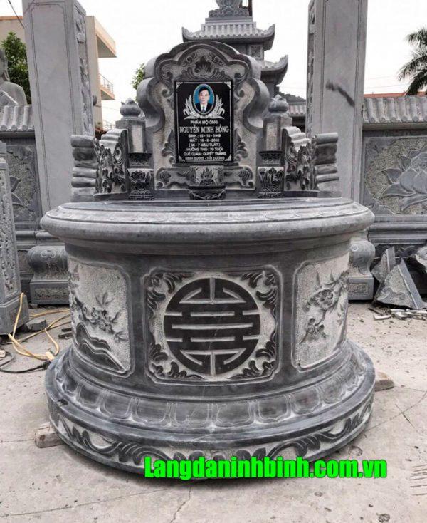 Mộ tròn bằng đá khắc hoa văn ý nghĩa